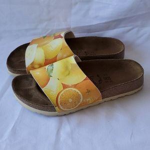 Birkenstock Birkis citrus sandals slides orange